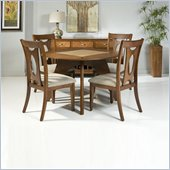 Armen Living Mid-Century Modern 5 Piece Round Dining Set