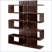 Armen Living Bookcase in Chocolate