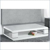 Armen Living Coffee Table in White