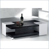 Armen Living Coffee Table in Black and White