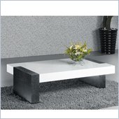 Armen Living Coffee Table in Wenge and White