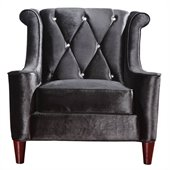 Armen Living Barrister Chair in Black