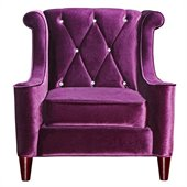 Armen Living Barrister Chair in Purple