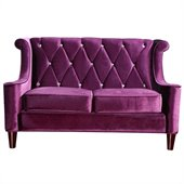 Armen Living Barrister Loveseat in Purple