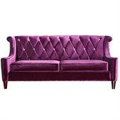 Armen Living Barrister Sofa in Purple