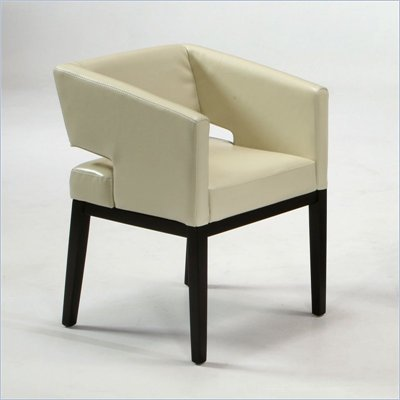 Armen Living  Apollo Club Chair in Cream