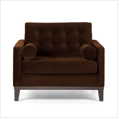 Armen Living Centennial Velvet Chair in Brown
