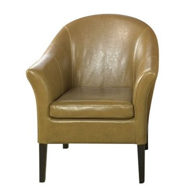Armen Living Camel Leather Club Chair
