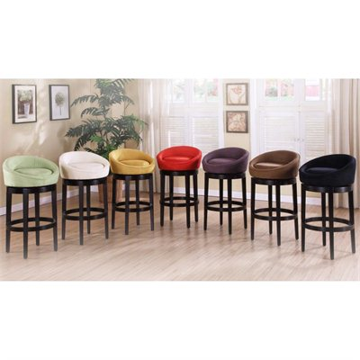 Armen Living Igloo 26&quot; High Microfiber Swivel Counter Stool