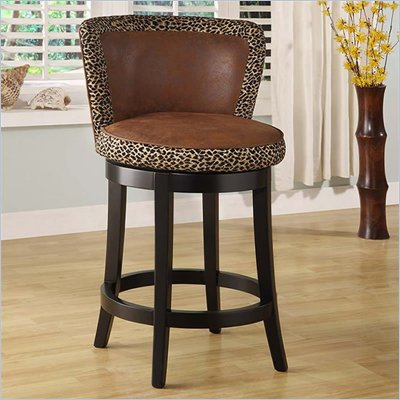 Armen Living Lisbon 26&quot; High Leopard Print Counter Stool