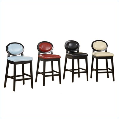Armen Living Martini 26&quot;H Stationary Leather Bar Stool