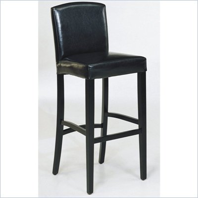 "Armen Living Melbourne 26"" High Counter Stool in Black"