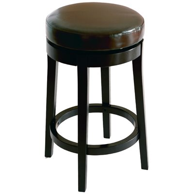 "Armen Living Brown 26"" High Round Backless Swivel Counter Stool"