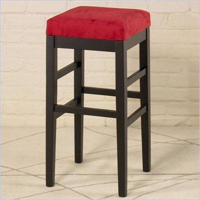 Armen Living Sonata 26&quot; High Square Micro Fiber Backless Counter Stool