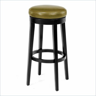Armen Living 30&quot; High Round Backless Swivel Bar Stool in Wasabi