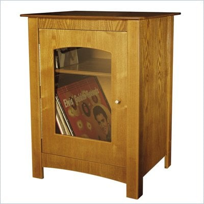 Crosley Radio Williamsburg Media Storage End Table in Oak