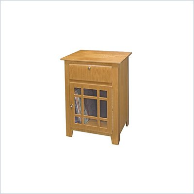 Crosley Radio Richmond Media Storage End Table in Oak