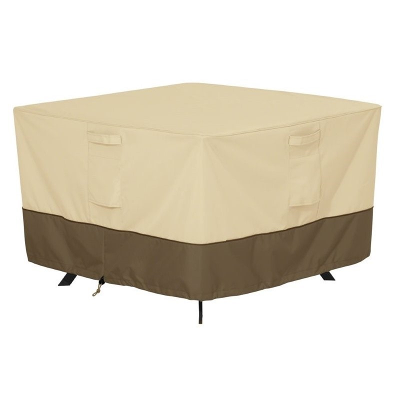 Classic Accessories Veranda 40 Patio Table Cover in Beige