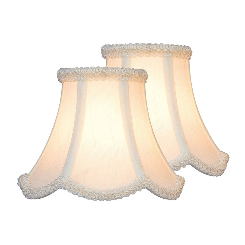 "Lite Source 3"""" Shade in White (Set of 2) CH527-6-2PK"