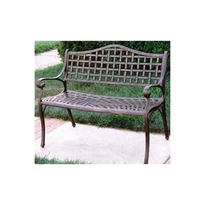 Oakland Living Elite Settee Cast Aluminium Bench