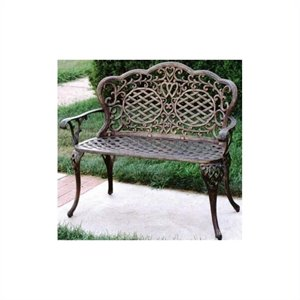 Oakland Living Mississippi Cast Aluminium Loves Seat Bench