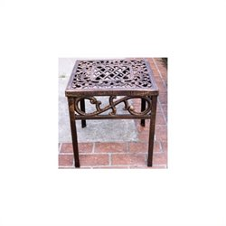 Oakland Living Mississippi Cast Aluminium Square End Table