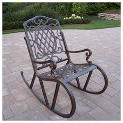 Oakland Living Mississippi Cast Aluminium Rocking Chair