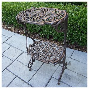 Oakland Living 2 Level Plant Stand in Antique Bronze