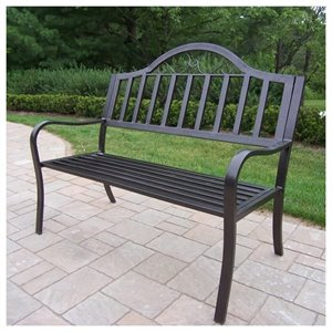 Oakland Living Rochester Bench in Hammer Tone Bronze
