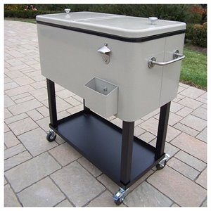 Oakland Living Steel 80qt Patio Cooler with Cart