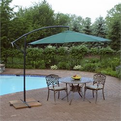 Oakland Living 10 Ft Cantilever Umbrella in Green