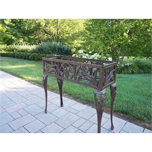 Oakland Living Butterfly Rectangular Plant Stand in Antique Bronze