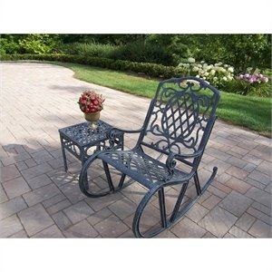 Oakland Living Mississippi Cast Aluminium 2 Piece Rocking Set