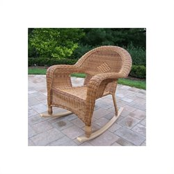 Oakland Living Resin Wicker Rocker in Natural (Set of 2)