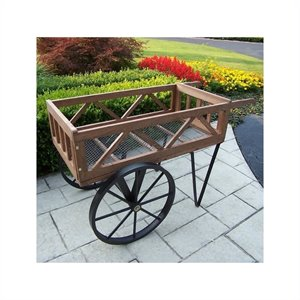 Oakland Living Flower Garden Wagon in Black
