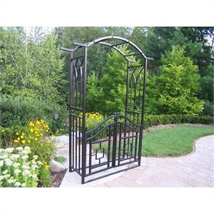 Oakland Living Royal Arbor with Gate in Black