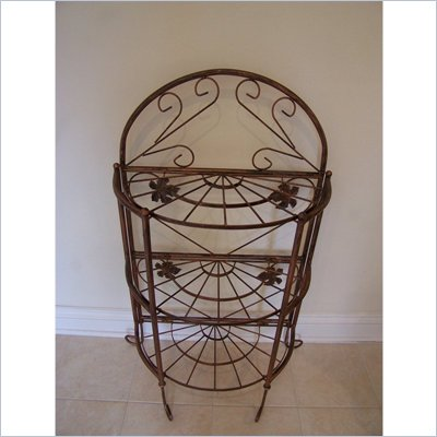 Oakland Living Sundance Bakers Rack in Antique Bronze 