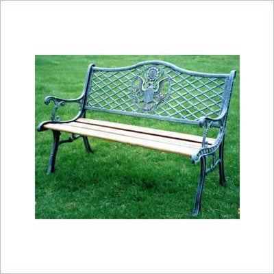 Oakland Living American Eagle Rope Bench