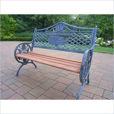 Oakland Living GOD Bless America Bench in Antique Verdi