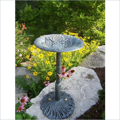 Oakland Living American Eagle Bird Bath in Antique Verdi