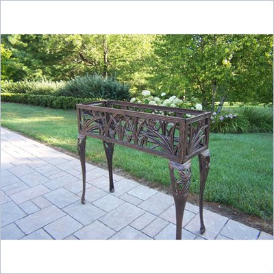 Oakland Living Butterfly Rectangular Plant Stand in Antique Bronze Finish 