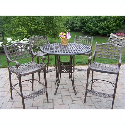 Oakland Living Elite 5 Piece Bar Set In Lattice Pattern