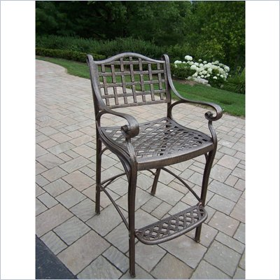 Oakland Living Elite Cast Aluminium Bar Stool In Lattice Pattern