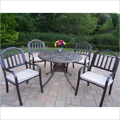 Oakland Living Elite 42 Inch Rochester 5pc Dining Set with Cushions