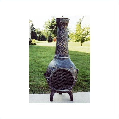 Oakland Living Dragonfly Chimenea with Grill