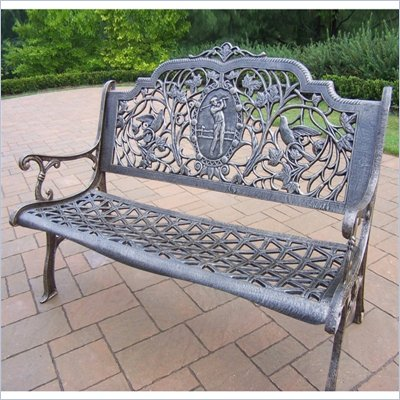 Oakland Living Golfer Bench in Antique Bronze