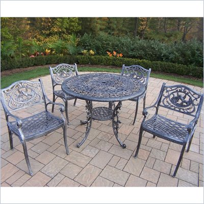 Oakland Living Mississippi 42 Inch Hummingbird 5pc Dining Set