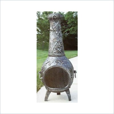 Oakland Living Hummingbird Antique Pewter Chimenea with Grill