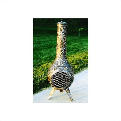 Oakland Living Hummingbird 45&quot; Chimenea with Grill