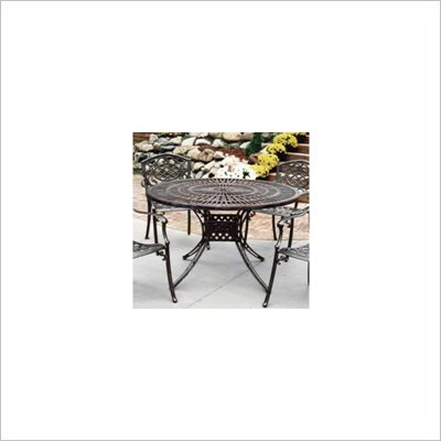 Oakland Living 48&quot; Sun Ray Table with Cast Top